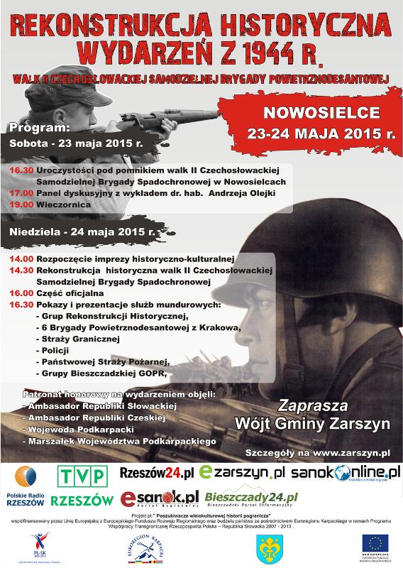 Zaproszenie na Rekonstrukcję Historyczną w Nowosielcach - program imprezy!