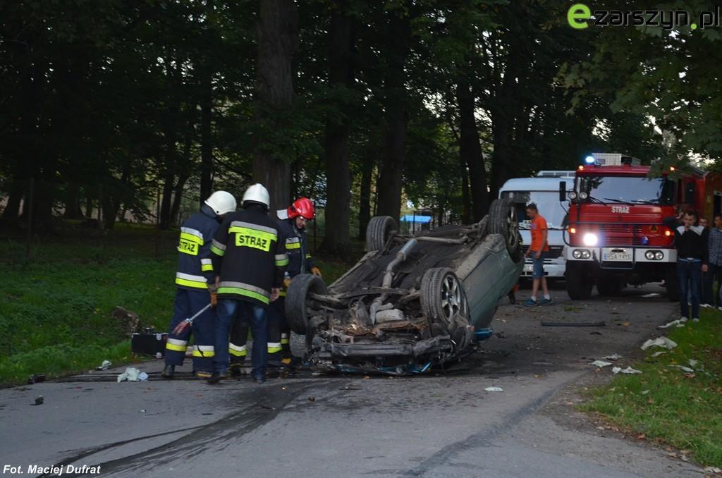 Wypadek w Bażanówce - 1 osoba ciężko ranna FOTO Aktualizacja